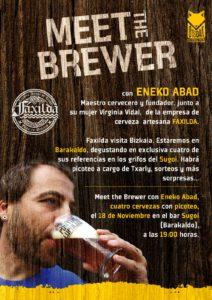 Meet the Brewer con Cerveza Faxilda en el Sugoi de Barakaldo